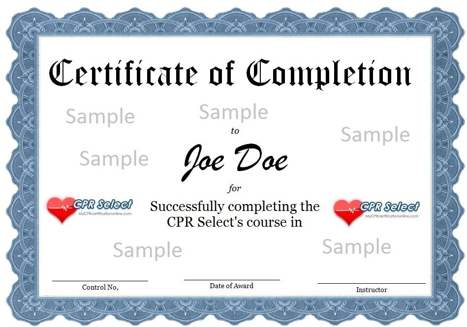 Certification – First Aid Certificate Template
